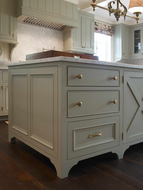 Silvery Blue Kitchen Cabinets