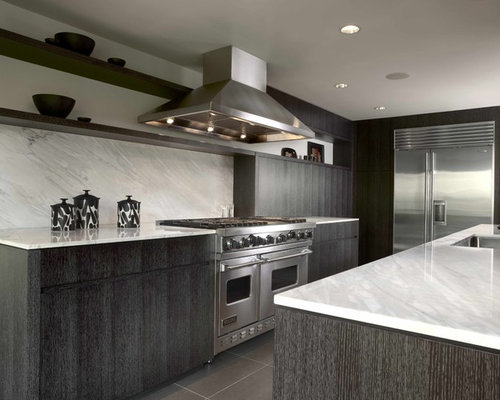 Dark Cabinets Stainless Appliances Home Design Ideas