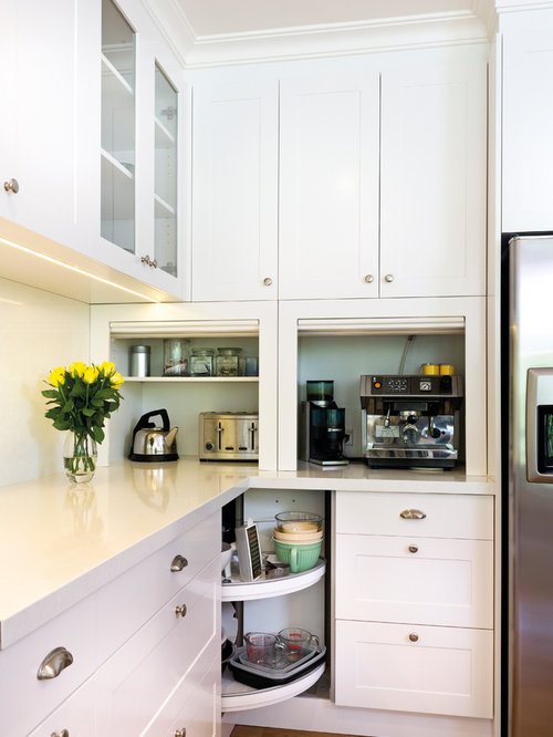 Interior Kitchen Countertop Accessories kitchen counter accessories houzz transitional medium tone wood floor photo in melbourne with shaker cabinets white cabinets