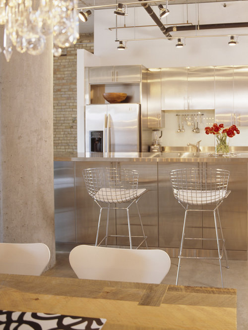 Stainless Steel Kitchen Design stainless steel kitchen island | houzz