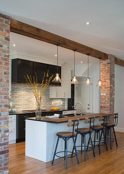 Industrial Kitchen by Jennifer Gilmer Kitchen & Bath