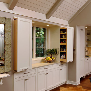 Washington, DC - Transitional - Kitchen Design with Cathedral Ceilings