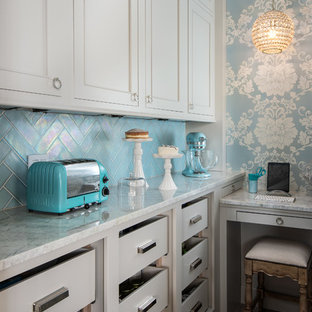75 Most Popular Shabby Chic Style Kitchen With Glass Tile