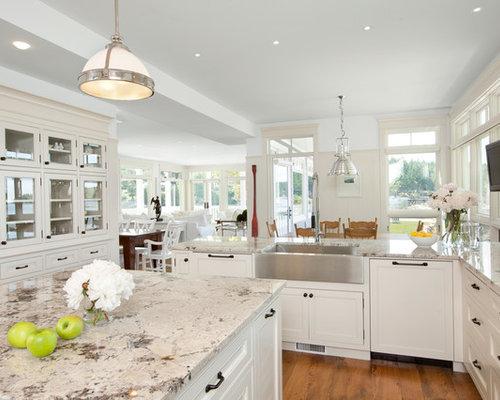 Houzz – White Granite Kitchen