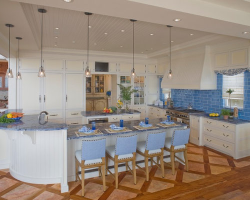 High Quality Inspiration For A Beach Style Kitchen Remodel In Philadelphia With Shaker  Cabinets, White Cabinets And