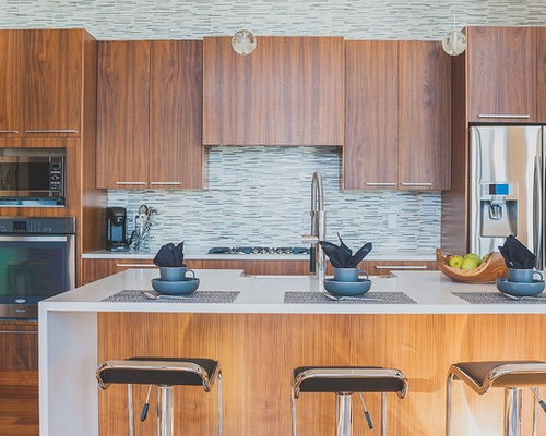 Kitchen design ideas renovations photos with brick for Bamboo kitchen cabinets australia