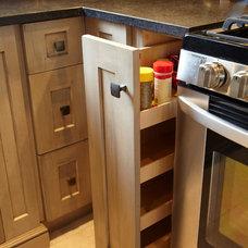 Transitional Kitchen by Schnarr Craftsmen Inc