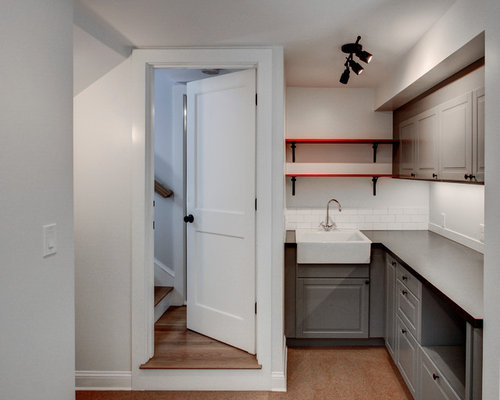 Best Small Kitchen Pantry with Cork Floors Design Ideas & Remodel Pictures | Houzz