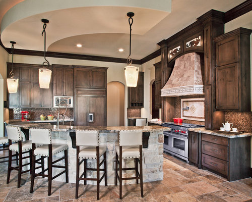Stone Kitchen Island Design Ideas Amp Remodel Pictures Houzz