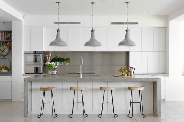 Beach Style Kitchen by Walter Barda Design