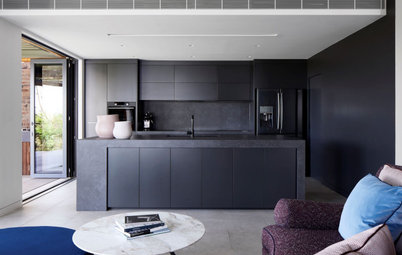 Room of the Week: An All-Black Streamlined Kitchen
