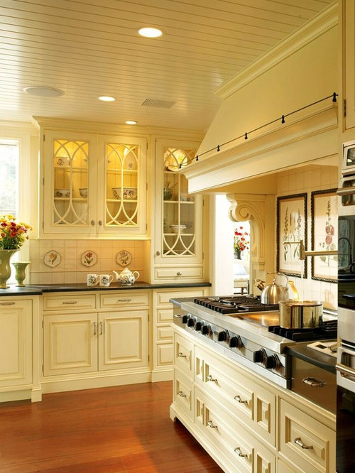 yellow kitchen cabinets. Rustic kitchen pictures  Inspiration for a rustic remodel in Philadelphia with glass front Yellow Kitchen Cabinets Houzz