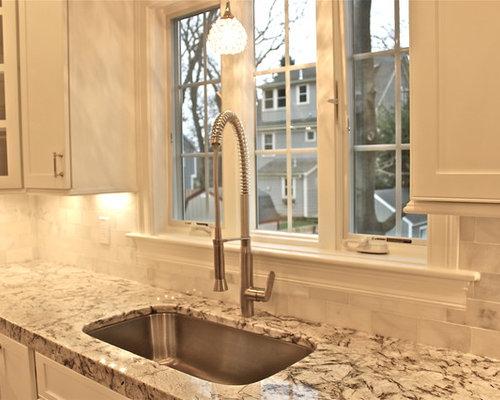 SaveEmail - Carrera Marble Backsplash Design Ideas & Remodel Pictures Houzz