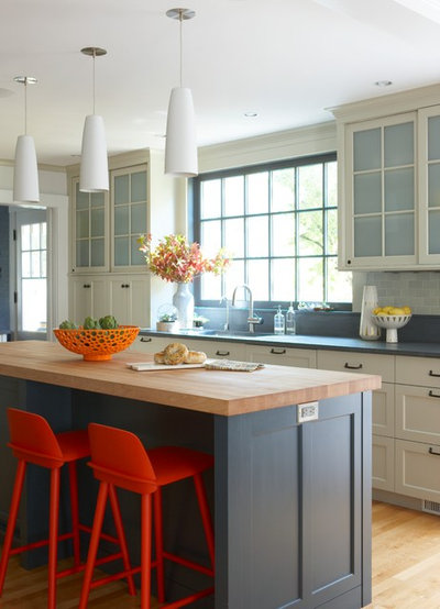 Transitional Kitchen by Rachel Reider Interiors