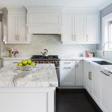 Transitional Kitchen by Jodie Rosen Design