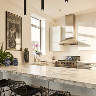 ニューヨークのアジアンスタイルのおしゃれなキッチンの写真
