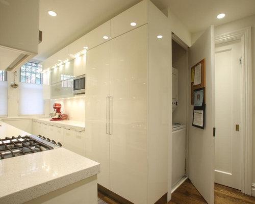 zweizeilige k chen mit arbeitsplatte aus terrazzo ideen design bilder houzz. Black Bedroom Furniture Sets. Home Design Ideas
