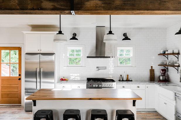 Farmhouse Kitchen by Cobblestone Development Group