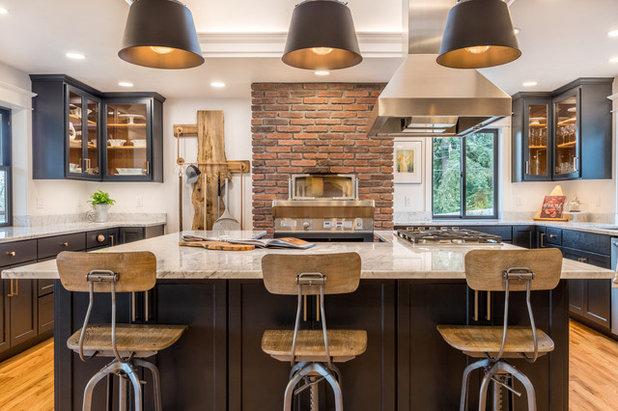 Transitional Kitchen by Schweitzer Design & Build, Inc.