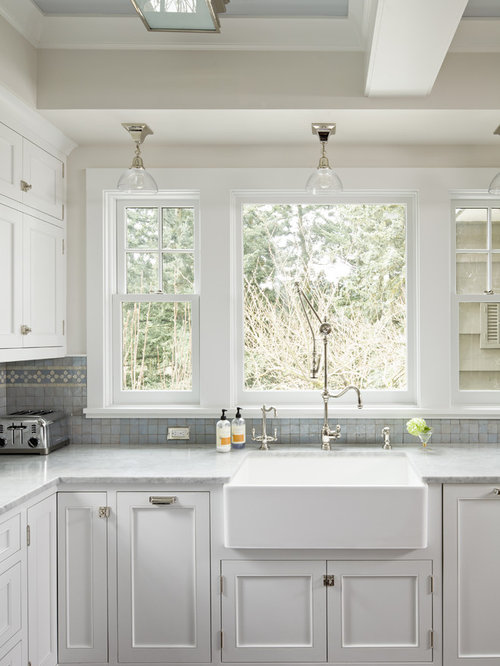 Window over kitchen sink houzz for House plans with kitchen sink window