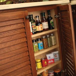Inspiration for a tropical kitchen remodel in Burlington