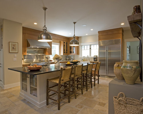 Example Of A Large Mountain Style L Shaped Enclosed Kitchen Design In New  York With Part 64