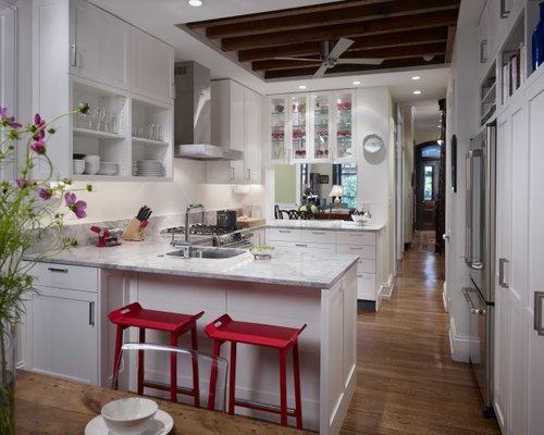 White U Shaped Kitchen traditional white u-shaped kitchens | houzz