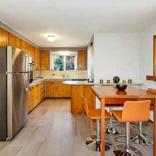 75 Most Popular Midcentury Modern Laminate Floor Kitchen Design