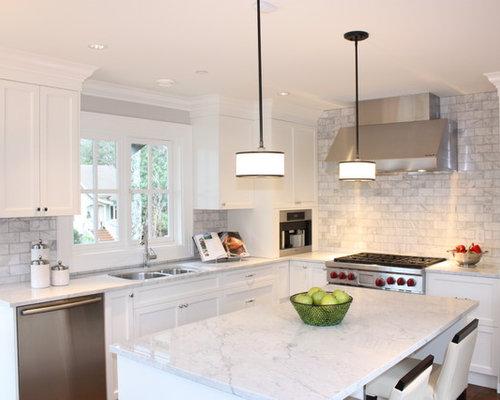 Marble Tile Backsplash | Houzz
