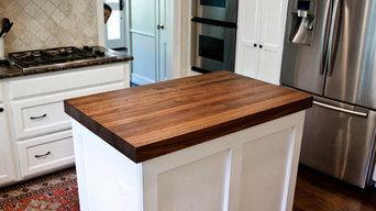 West University Home - Walnut Kitchen Counter & Desk Top Build, Install