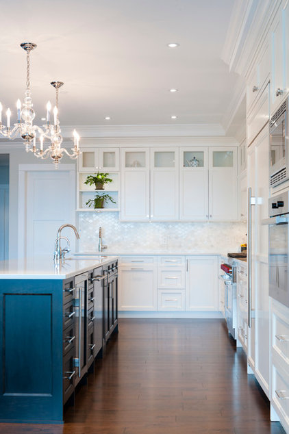 Transitional Kitchen by Sarah Gallop Design Inc.