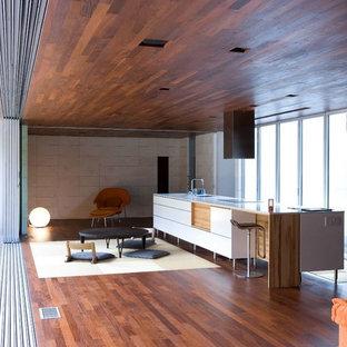 Contemporary kitchen remodeling - Trendy kitchen photo in Atlanta