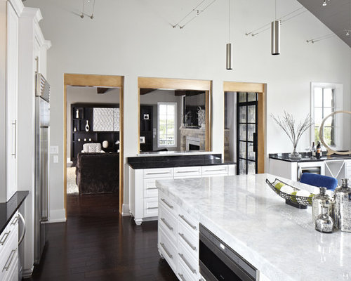 White Kitchen Quartz white quartz countertops | houzz