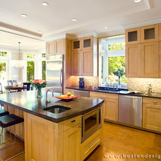 Transitional Kitchen by Boston Design Guide
