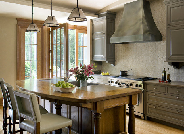Transitional Kitchen by SLC Interiors