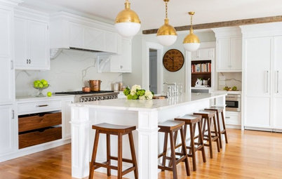 Kitchen of the Week: White, Walnut and Brass in an 1840 Farmhouse