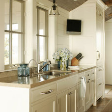 Farmhouse Kitchen by Shelter Interiors llc