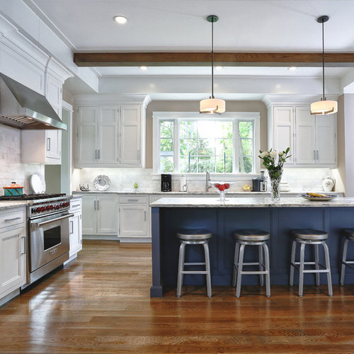 Traditional Open Concept Kitchen: Navy Island