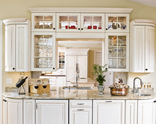 Seeded Glass Cabinets | Houzz