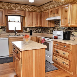 Wheeler, IN. Haas Signature Collection. Natural Rustic Hickory Kitchen