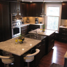 Contemporary Kitchen by Cape Ann Kitchens