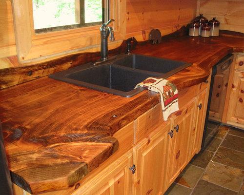 Whipporwill walk cabin blue ridge ga for Live edge wood countertops