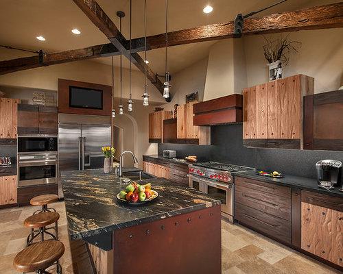 cuisine sud ouest am ricain ferm e photos et id es d co de cuisines. Black Bedroom Furniture Sets. Home Design Ideas