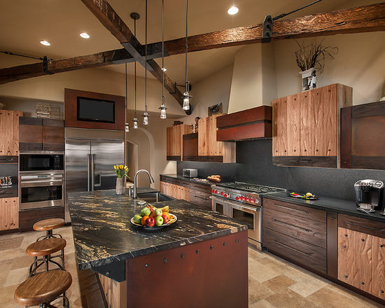 Cherry Cabinets Black Granite Houzz