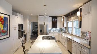 White & Brass Kitchen Remodel
