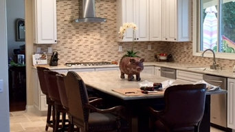 White & Brown Transitional Kitchen