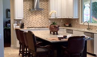 White & Brown Transitional Kitchen