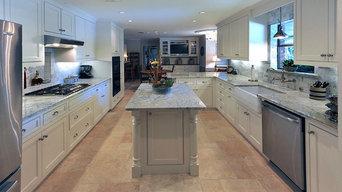 White & Glazed Custom Cabinets