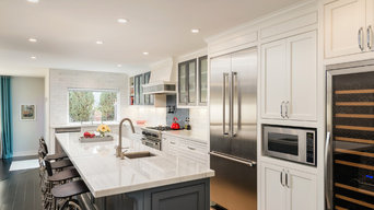 White and Gray Contemporary Kitchen