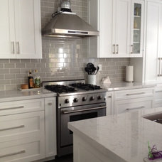 Traditional Kitchen White and Gray Kitchen Remodel